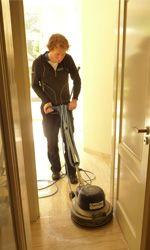 Krachtige tapijt reiniging